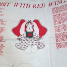 Cute Vintage Bunny Angel With Red Wings VIP Cranston Print Works Fabric Panel