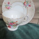 Elegant Cup Saucer Set By Cauldon Vintage Made in England T4346 Bone China Decor