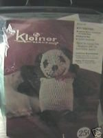 Vintage Kleiner Yarn Crochet Panda Complete Kit NIP