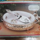The Jeweller Collection Silver Plated Holder W Oven To Tableware Pie Dish UK