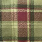 Interior Fabric Design 4 Yds Original Plaid Greens Reds !994 AmGuard Plus Free