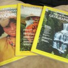 National Geographic Magazine 1977 Apr Jul Oct Pilgrimage to Nepal Turkey Danube