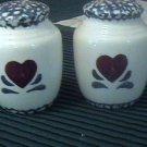 Heart Salt and Pepper Shakers Japan Baker Hart Stuart
