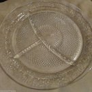 Four Vintage Indiana Depression Glass Divided Grill Plate Daisy Pattern 1933