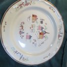Newcor Stoneware 1986 Our Country Salad Plates Pattern 6004 EUC Sand Beige