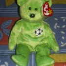 kicks the soccer bear
