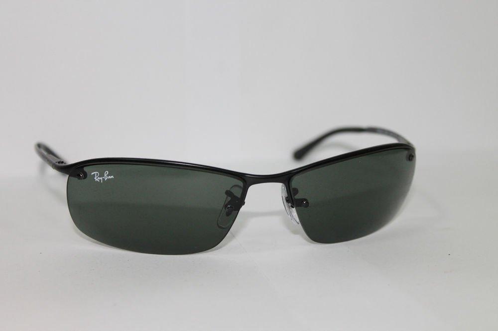 Ray-Ban Sunglasses RB 3183 006/71 63/15 Black / Grey-Green Lenses 100% Original