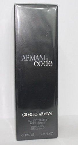 Armani Code for Men Eau de Toilette 125ml 4.2oz New In Box 100% Original