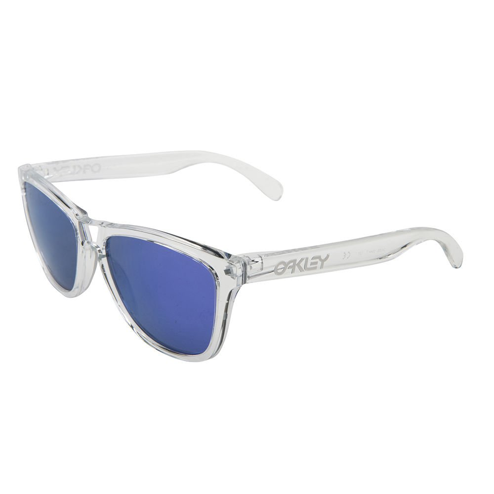 Oakley Sunglasses Frogskins Polished Clear/Violet Iridium OO9013 24-305 100% New