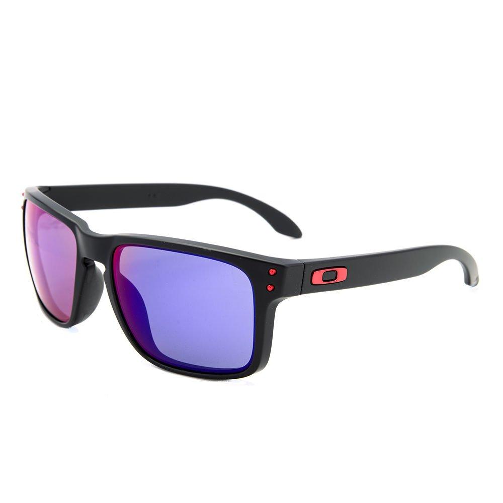 Oakley Sunglasses 9102-36 Matte Black/ Red Iridium Mirrored 100% New & Original