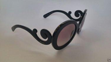 PRADA Sunglasses 27NS 1AB3M1 BAROQUE BLACK / GREY GRADIENT 1AB-3M1 100% Original