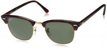 Ray Ban Sunglasses Clubmaster RB3016 W0366 Mock Tortoise / Arista 100% New Original