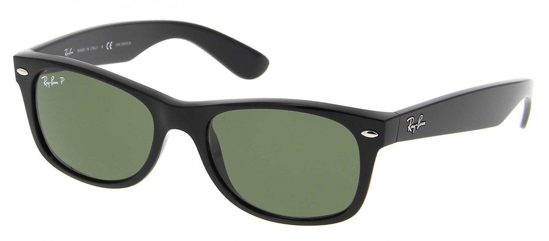Ray Ban Sunglasses 2132 901 52/18 New Wayfarer Polarized Black / Green Lenses 100% Original