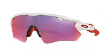 Oakley Sunglasses Radar Path OO 9208 05 White / Red Prizm Road 100% Original