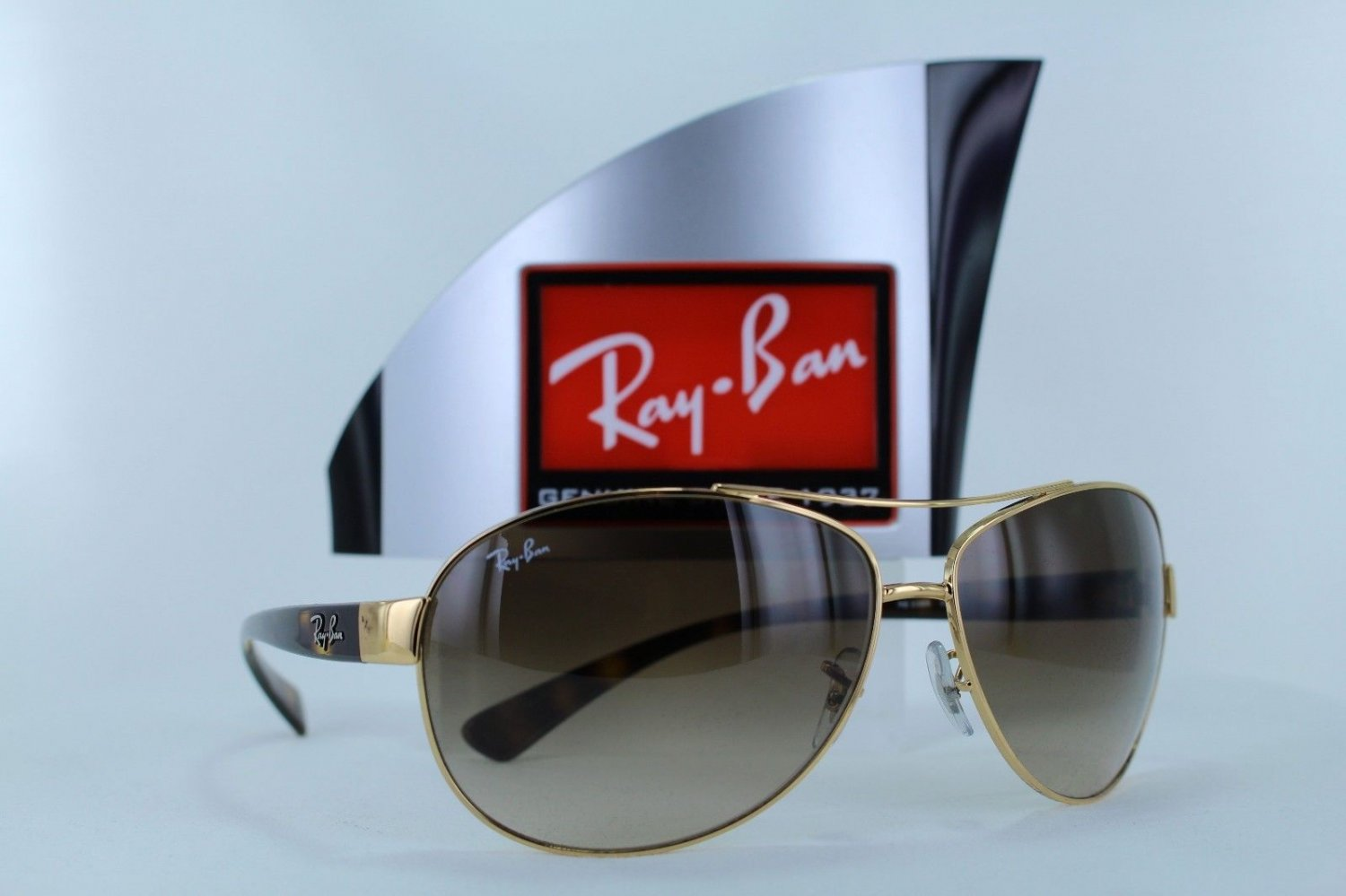 Ray-Ban Sunglasses Aviator 3386 001/13 63 Gold / Tortoise Brown New & Original