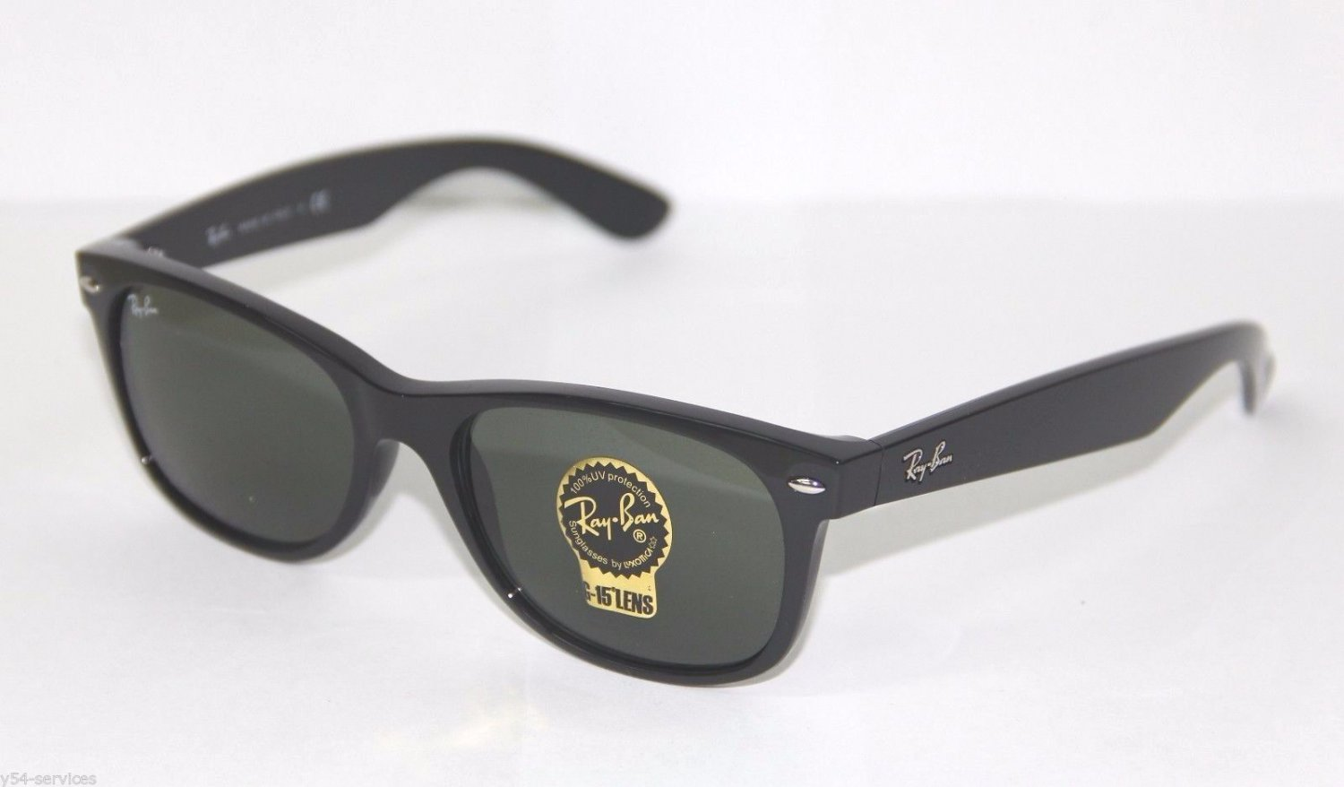 Ray-Ban New WAYFARER 2132 901L 55 Large BLACK GREEN Sunglasses NEW & 100% ORIGINAL