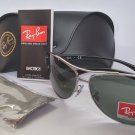 Ray-Ban Sunglasses AVIATOR 3386 004/71 GUNMETAL BLACK GREEN NEW & 100% ORIGINAL