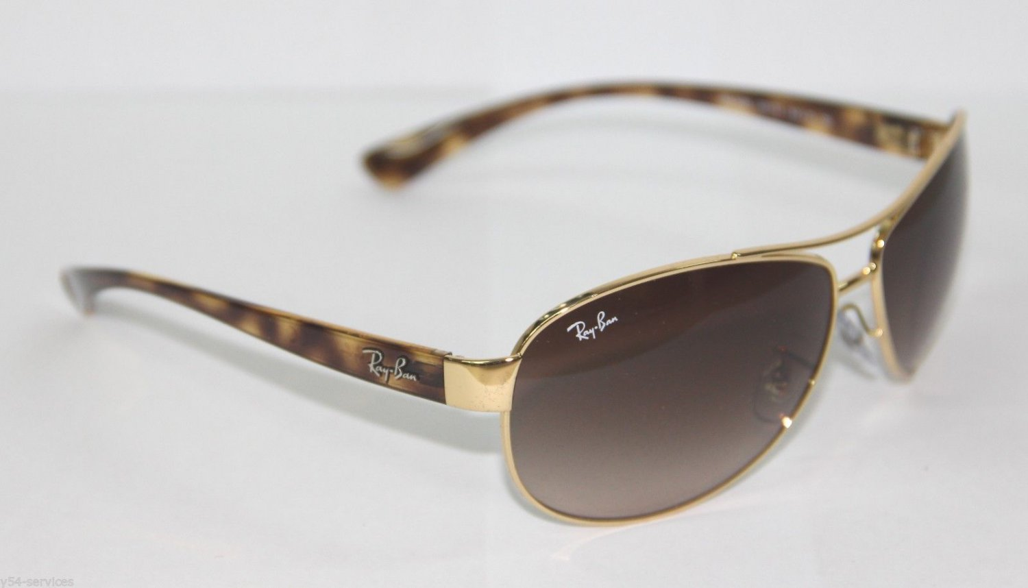 Ray-Ban Sunglasses AVIATOR 3386 001/13 63 GOLD TORTOISE BROWN GRADIENT Original