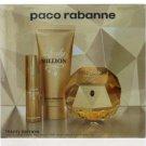 Paco Rabanne Lady Million SET 3 Pieces 80ml + 10ml Mini + 100ml Body Lotion EDP