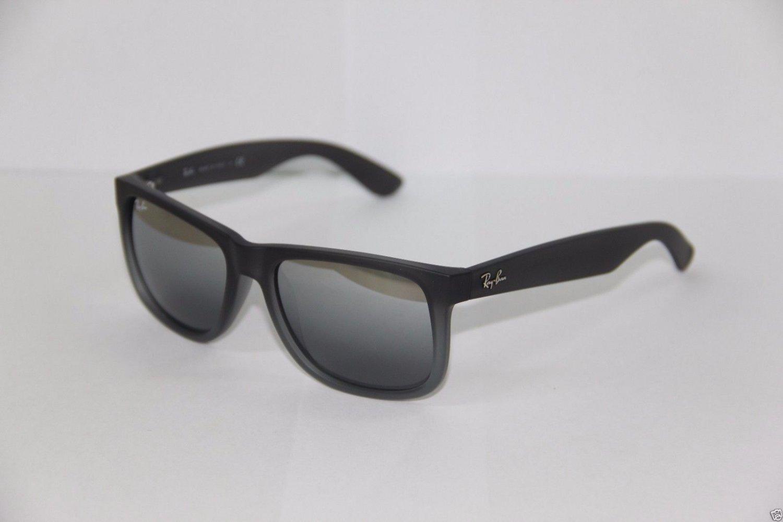 Ray-Ban Sunglasses Justin 4165 852/88 55 Gray Silver Gradient Mirrored BRAND NEW