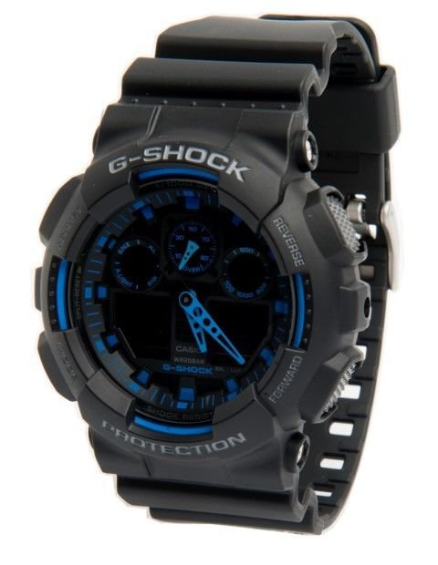 Casio Watch G Shock GA100 1A2 DR Alarm Analog & Digital NEW & 100% Original