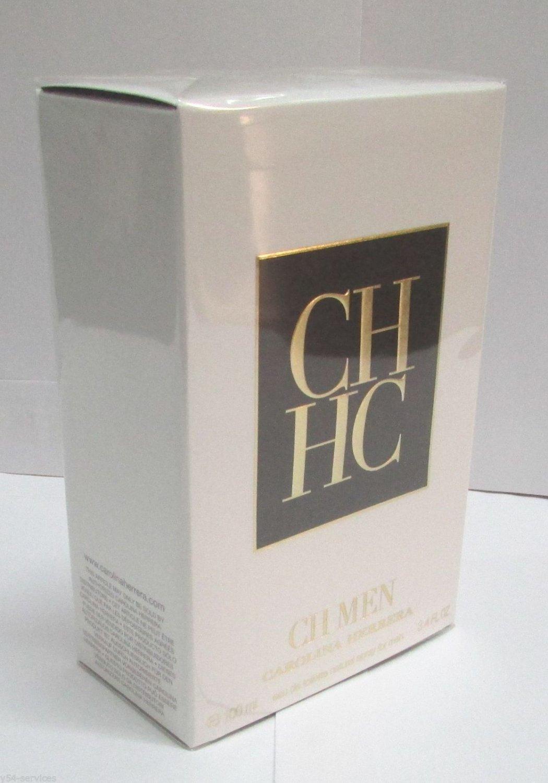 Carolina Herrera CH MEN 100ml 3.4 oz Eau de Toilette EDT 100% Original NEW BOX