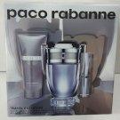 Paco Rabanne INVICTUS EDT 100ml+ Travel Spray 10ml + Shower Gel 75ml NEW SET
