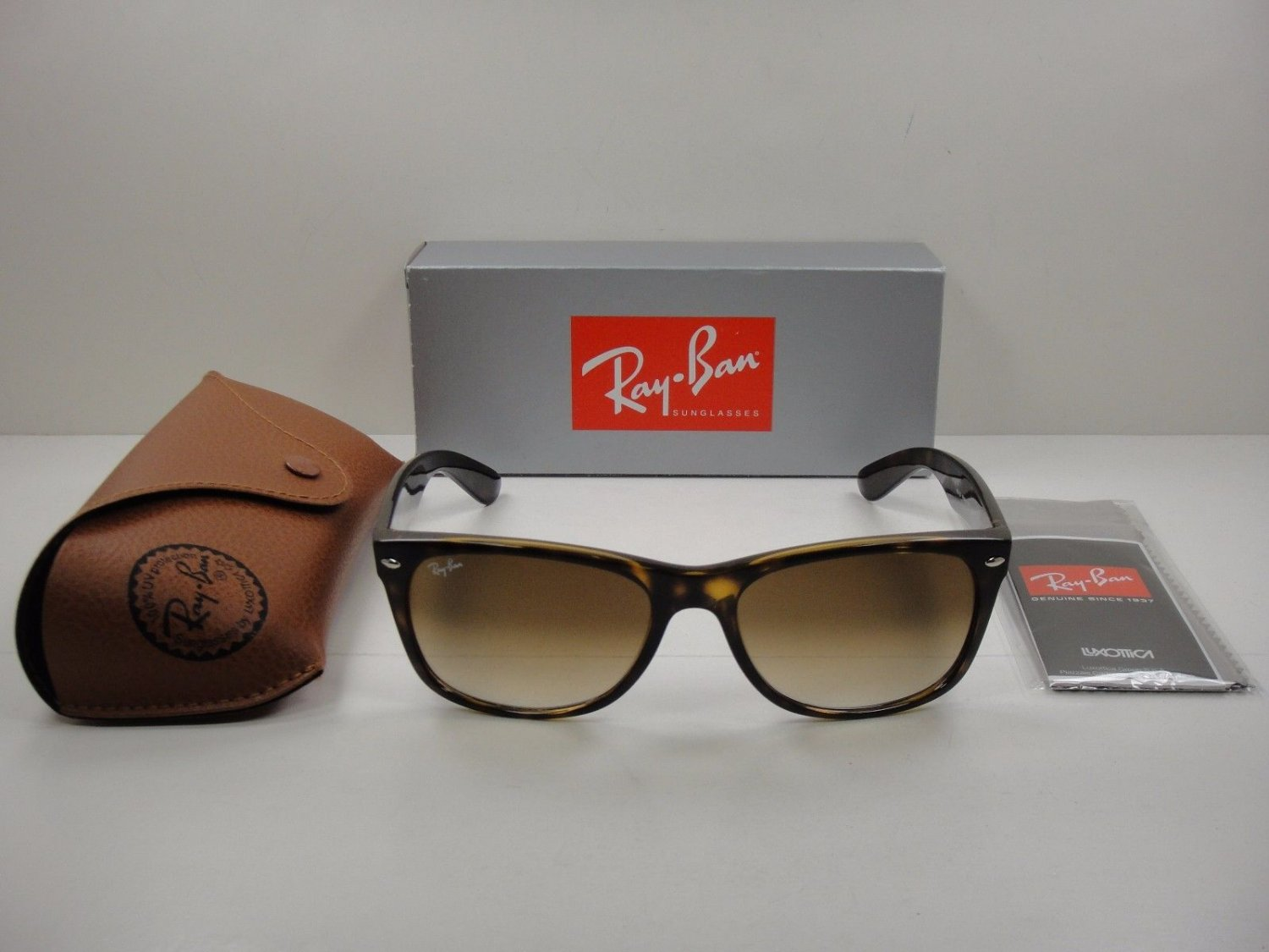 Ray-Ban Sunglasses 2132 710 New Wayfarer Brown Light Havana 52mm 100% New & Original