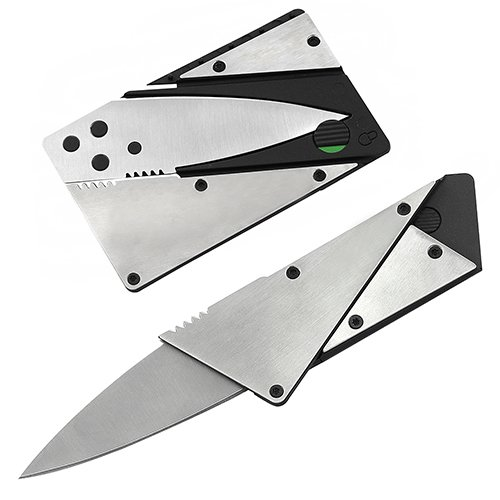 Stainless Steel Outdoor Credit Card Thin Cardsharp Folding Pocket Knife Camping