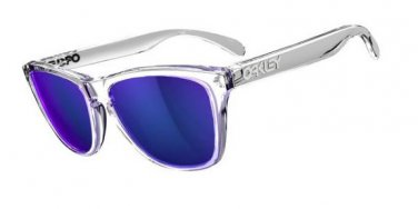 Oakley Sunglasses FROGSKINS 9013 24-305 Clear Polished Violet Iridium OO9013 NEW