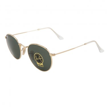 Ray-Ban RB3447-001 ROUND Metal Unisex Sunglasses Gold 3447-001 100%  Original NIB d367e0933a4f