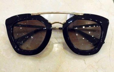 Prada SPR09QS 1AB0A7 CINEMA  Black / Gold Women's CINEMA Sunglasses-100% ORIGINAL NIB*