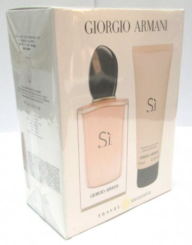 Giorgio Armani Sì EDP 100ml 3.4oz Eau de Parfum + Body Lotion Si 75ml 2.5oz Gift Set NEW & ORIGINAL