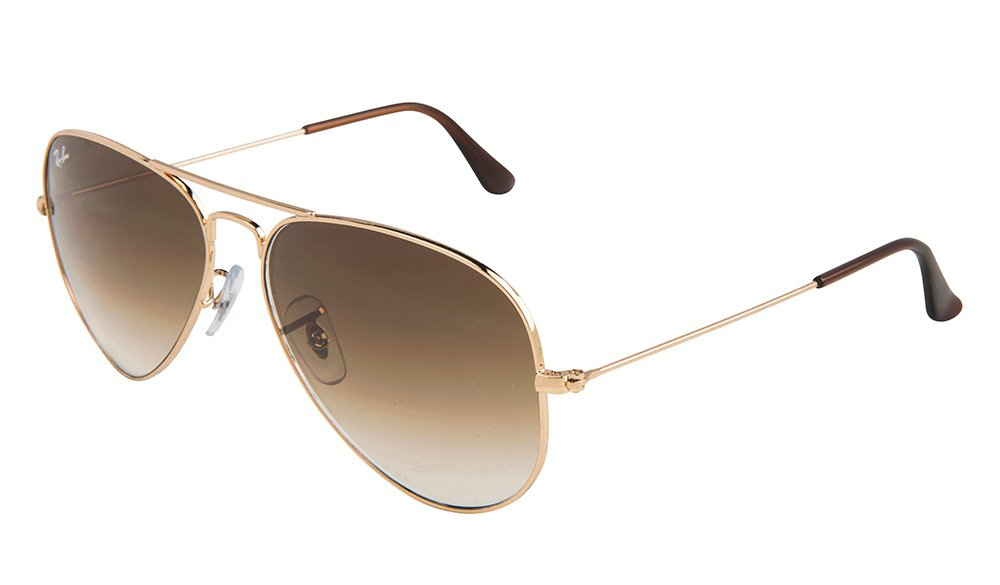 Ray-Ban AVIATOR Sunglasses RB3025 Gold Metal 001/51 58mm Brown Gradient Lens NEW 100% ORIGINAL