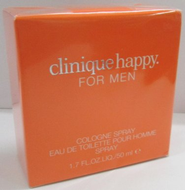 Clinique HAPPY Men EDT EDC Eau de Cologne 50ml 1.7oz NEW IN BOX & 100% ORIGINAL