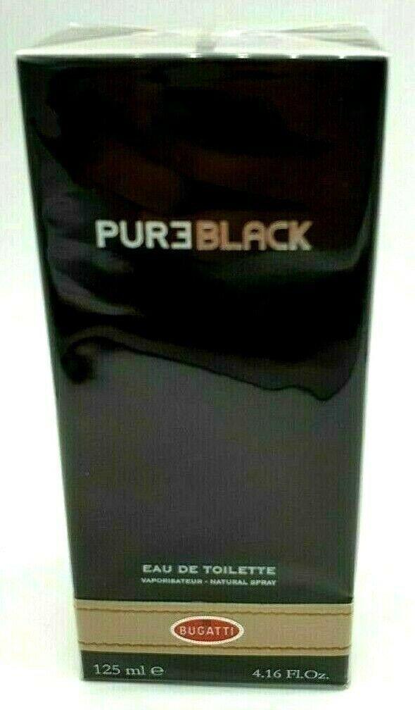 Bugatti Pure Black For Men Edt 125ml 4.2oz 100% Original Brand New & Sealed