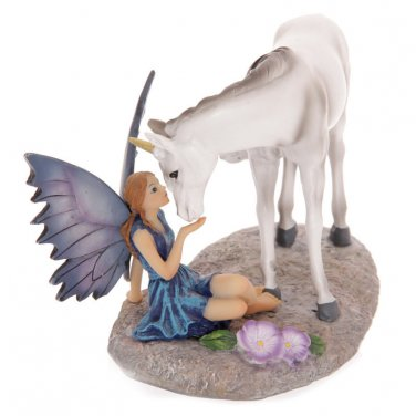 Tales of Avalon UNICORNS KISS FAIRY with Unicorn Figurine by Lisa Parker
