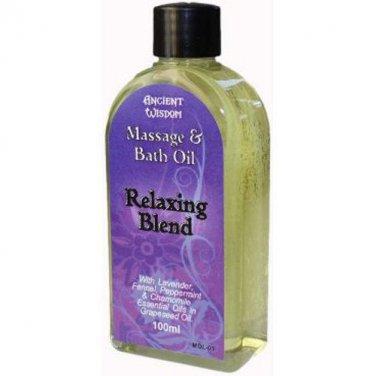 100ml Bottle RELAXING Massage Oil Blend Aromatherapy Calm Meditation