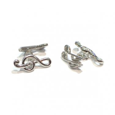 Gents Cufflinks Treble Clef & Musical Notes Chain Style Cufflinks