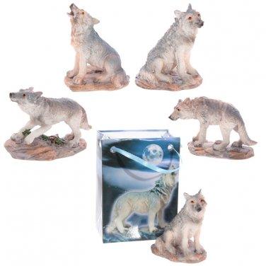 Miniature WOLF Figurine Figure in a Bag