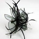 Feather Twist Loop Ruffle FASCINATOR Hair Accessory Com