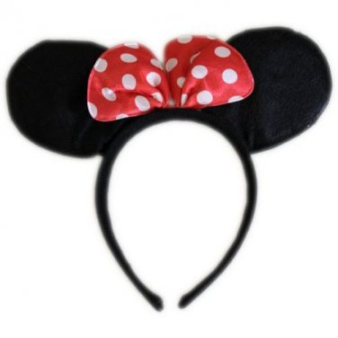 Fancy Dress MOUSE EARS Party Hair Band Head Band Adult or Child White Pink
