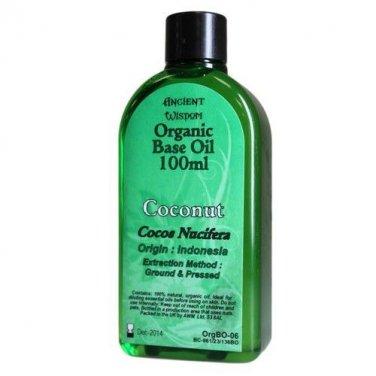 100ml Bottle COCONUT ORGANIC BASE OIL Carrier Oil Aromatherapy Massage