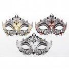 FANCY DRESS VENETIAN MASK Large Filigree Metal Eye Mask Masquerade Ball Costume