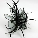 FASCINATOR HAIR COMB Feather Twist Loop Ruffle Wedding Races Hair Accessory Comb