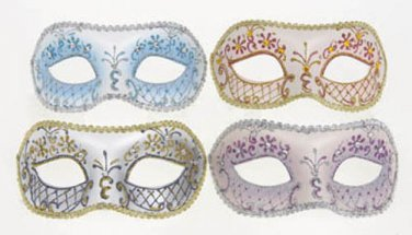 FANCY DRESS VENETIAN MASK Pastel Filigree Eye Mask Masquerade Ball Hen Party