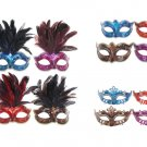 FANCY DRESS VENETIAN MASK Metallic Lustre Eye Mask Ball Hen Party Prom Costume