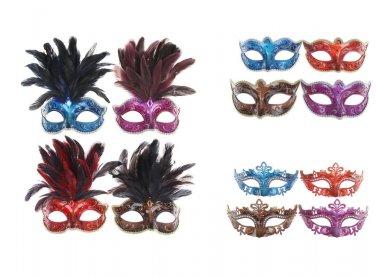 FANCY DRESS VENETIAN MASK Metallic Lustre Eye Mask Ball Hen Party Prom Costume