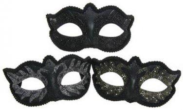FANCY DRESS VENETIAN MASK Black Swan Eye Mask Masquerade Ball Costume Hen Party