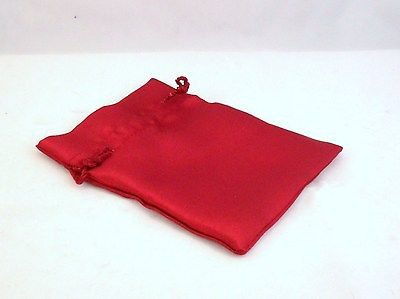 DARK RED BURGUNDY Satin Fabric Pouch Crystal Jewellery Gift Bag BUY 2 GET 1